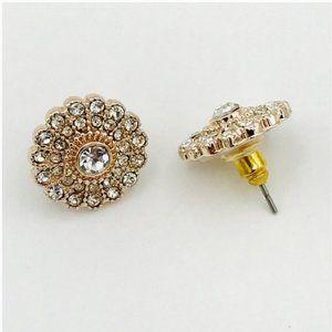 Lauren Conrad Rose Gold Flower Earrings